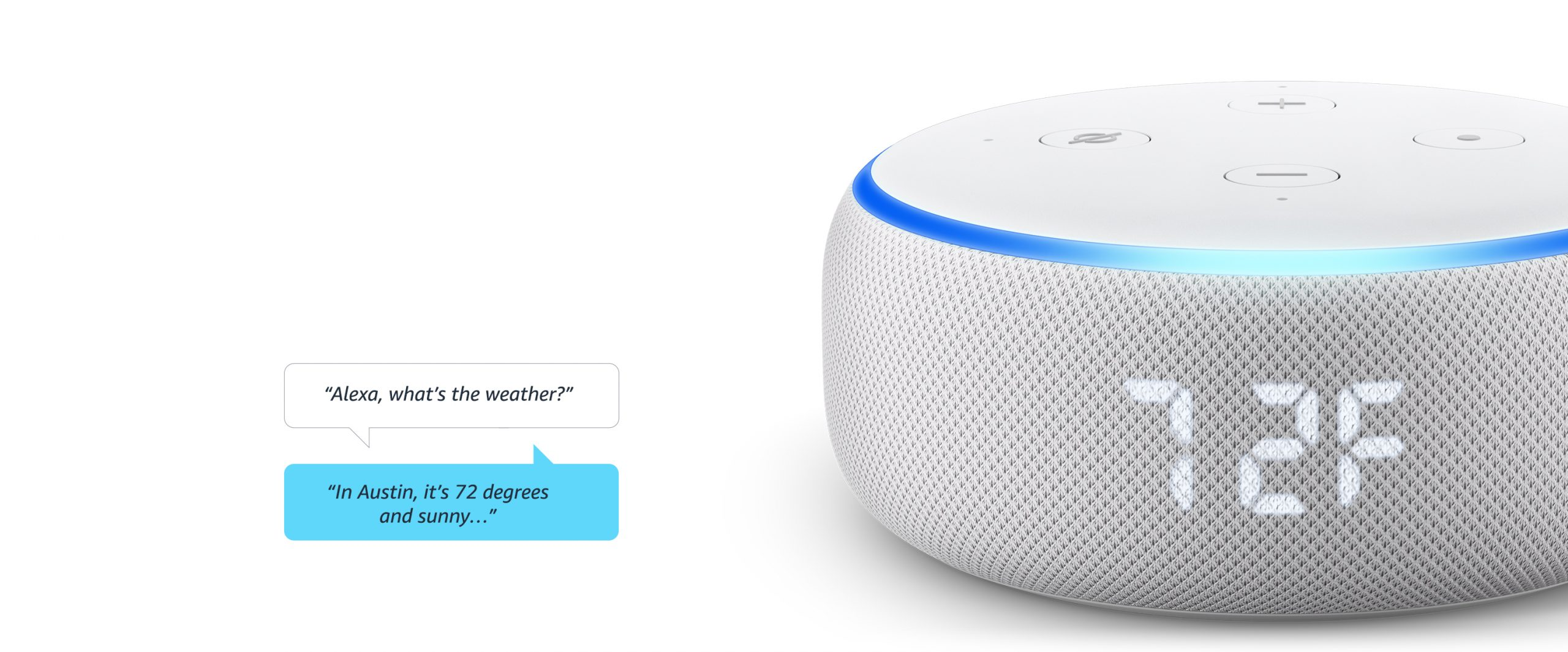 Amazon Echo Dot With Clock banner mid