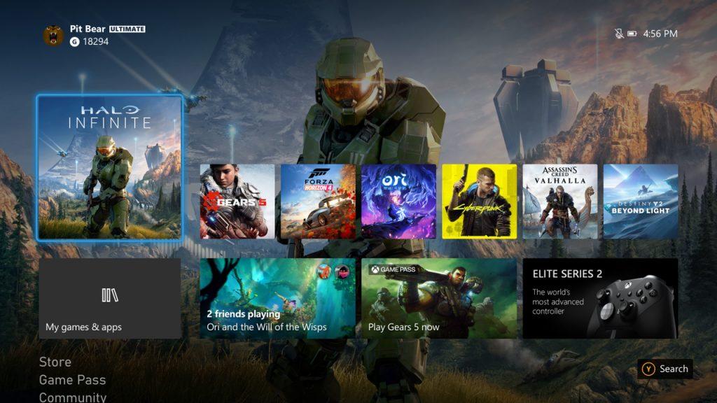 интерфейс Xbox Series X - обзор игровой консоли от Microsoft