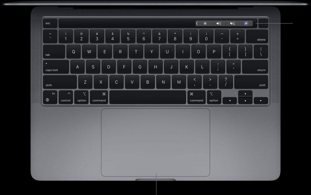 картинка apple macbook pro 13 m1 2020 клавиатура