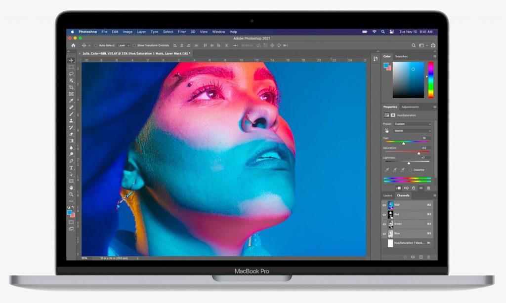 картинка apple macbook pro 13 m1 2020 photoshop