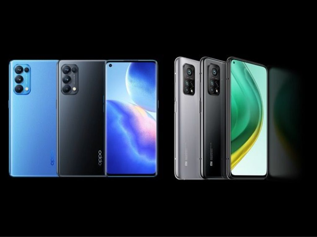 Oppo Reno 5 Pro и Xiaomi Mi 10T