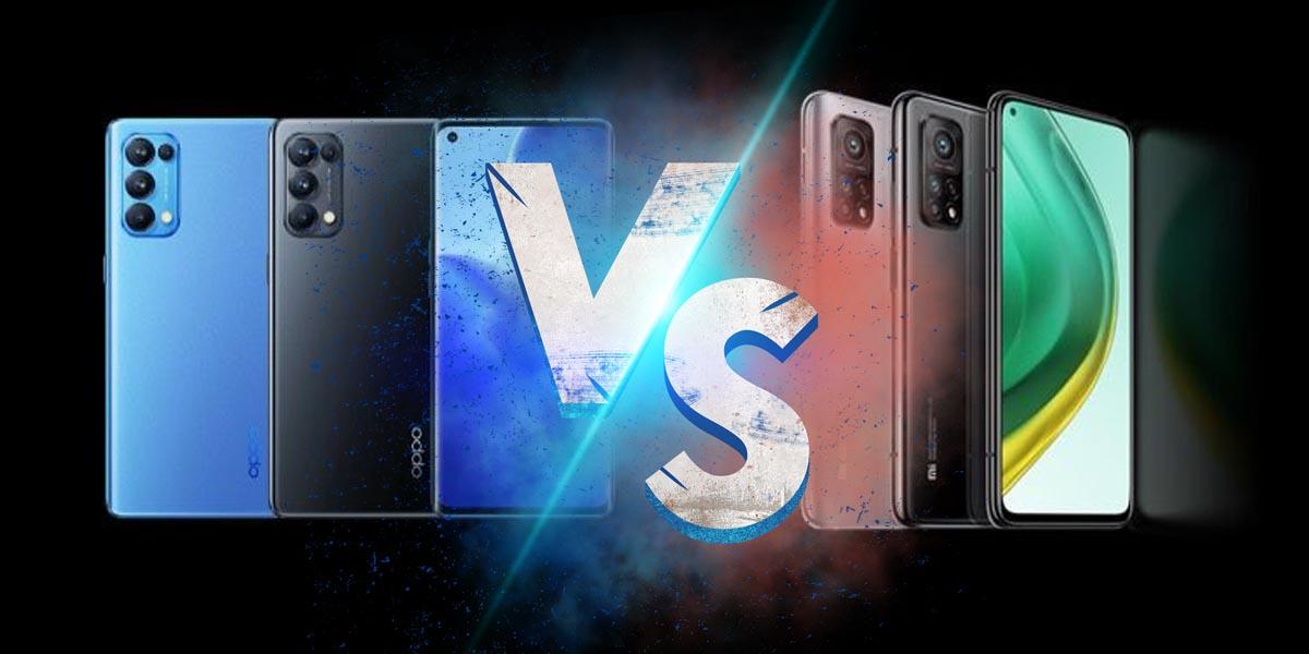 Сравнение Oppo Reno 5 Pro против Xiaomi Mi 10T