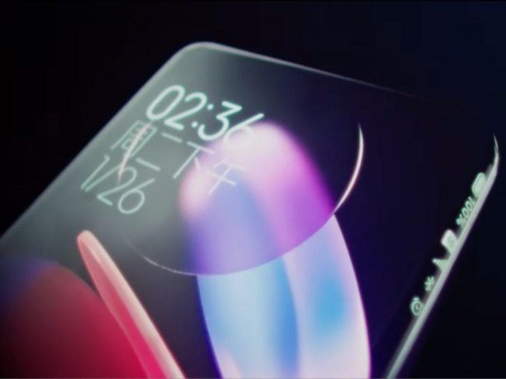Концепт смартфона Xiaomi, экран изогнут со всех сторон