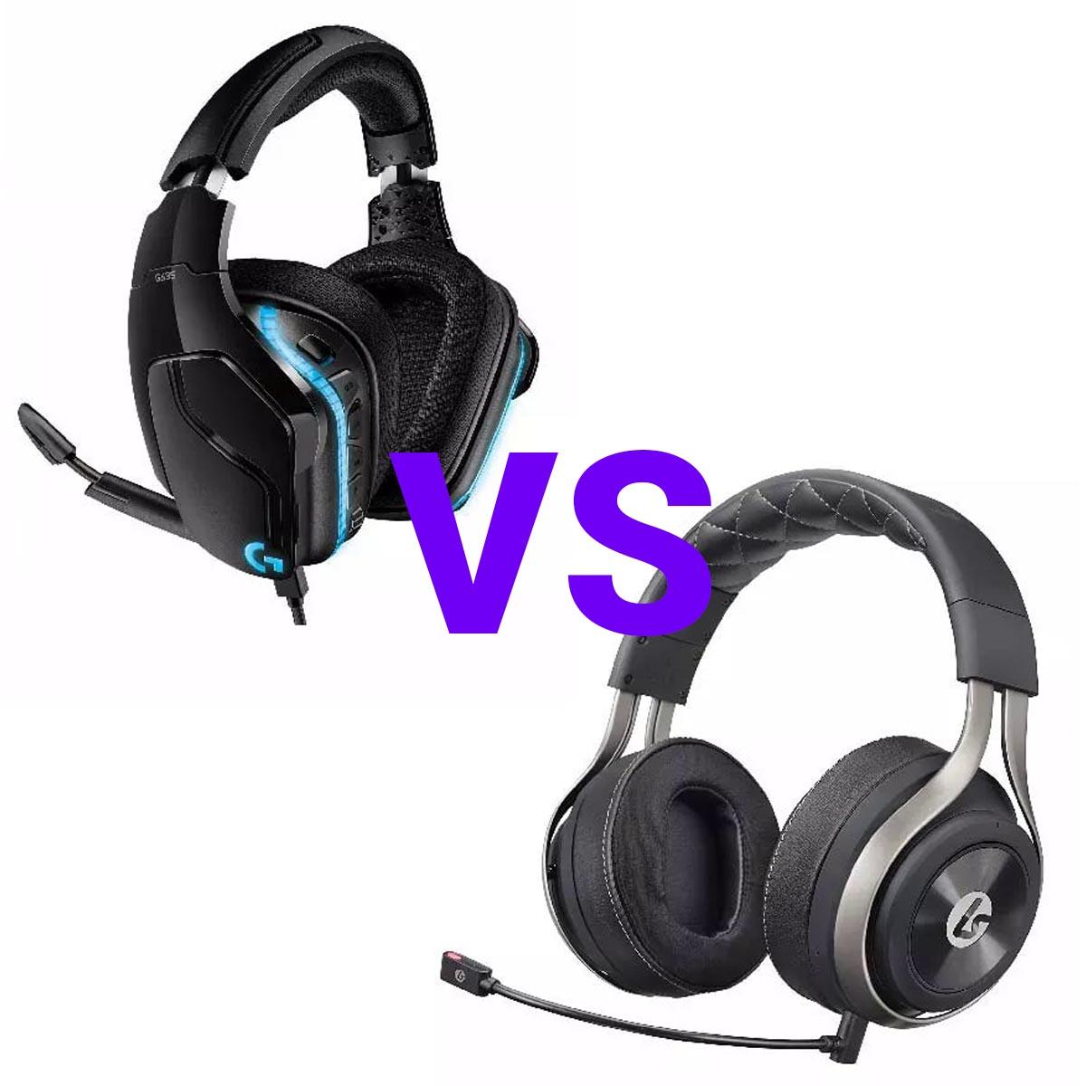LucidSound LS50X против Logitech G635 7-1 Lightsync сравнение игровых гарнитур
