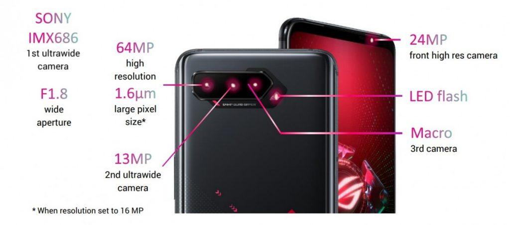 Asus ROG Phone 5 камеры