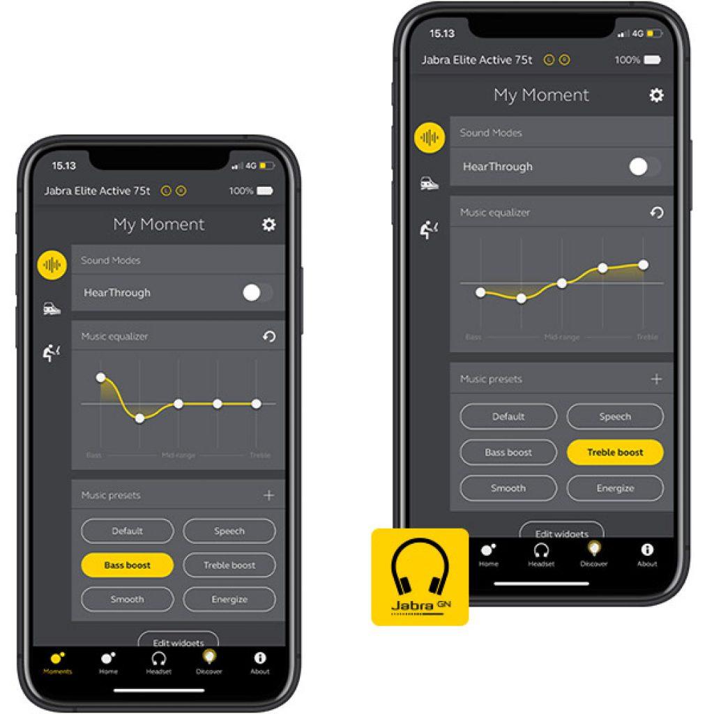 Jabra Elite Active 75t приложение