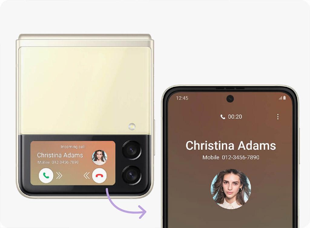 Samsung Galaxy Z Flip 3 экран