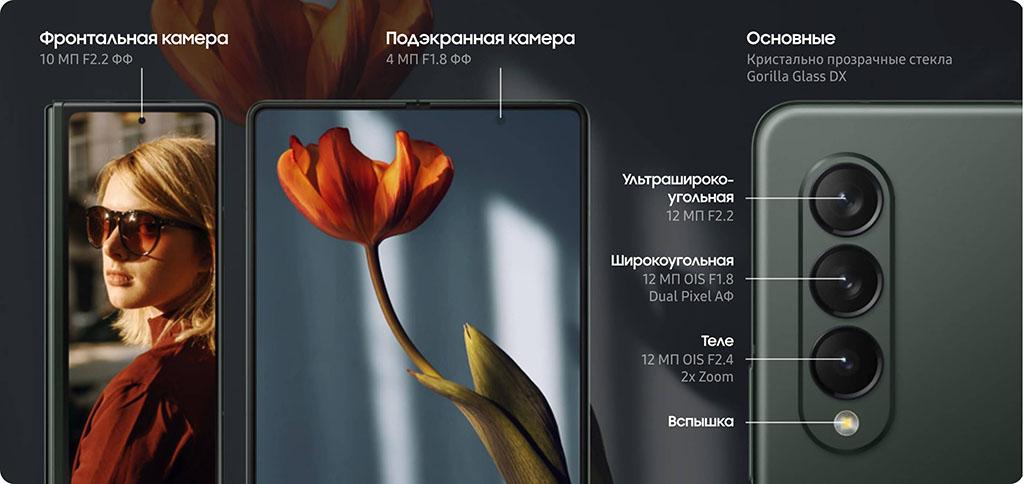 Samsung Galaxy Z Fold 3 камеры