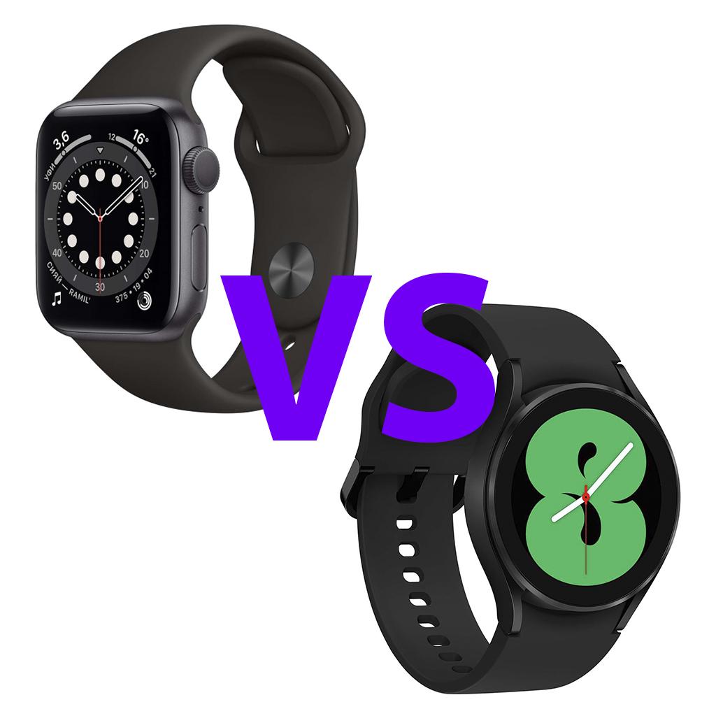 Apple Watch 6 против Galaxy Watch 4 сравнение