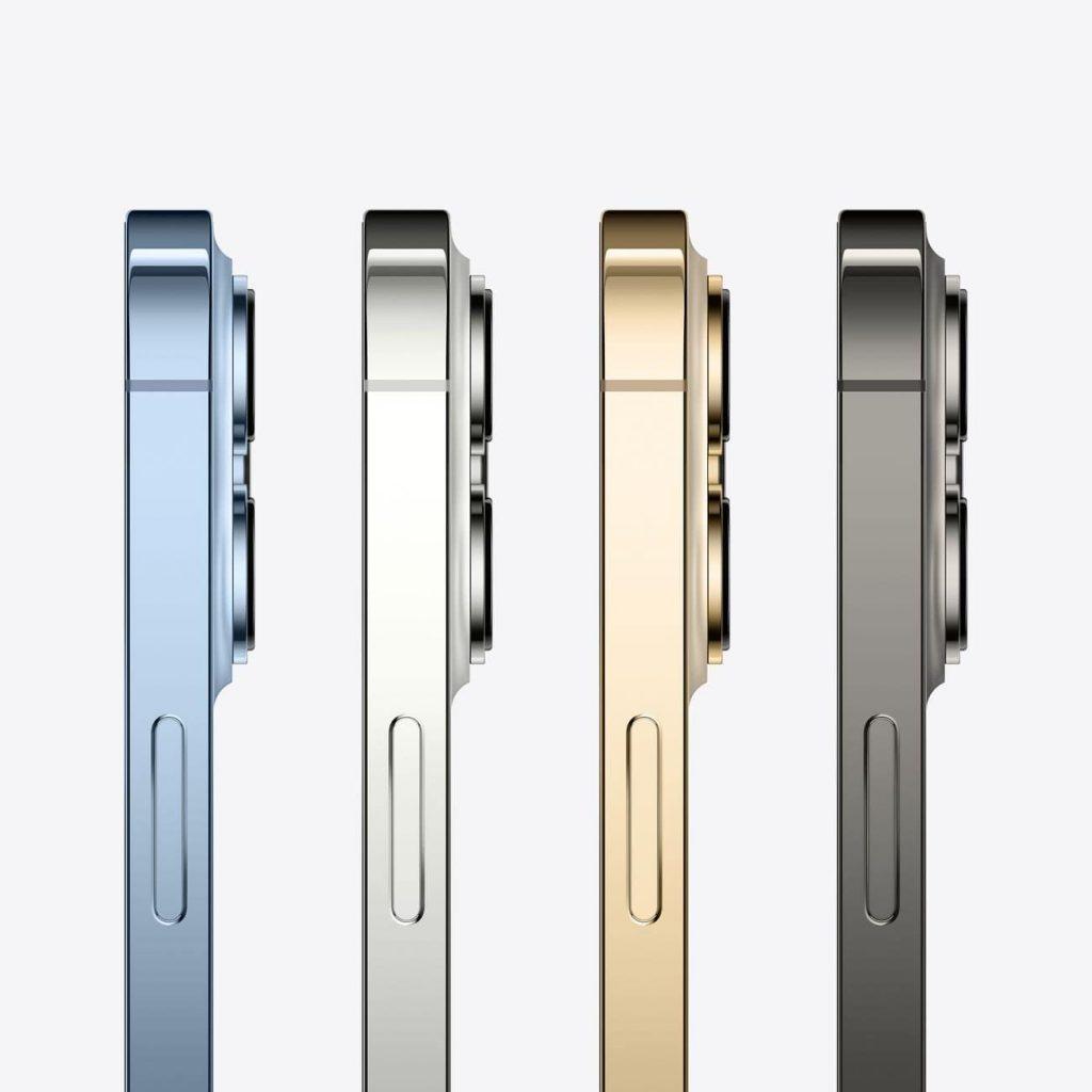 Изображение Apple iPhone 13 Pro сбоку все расцветки