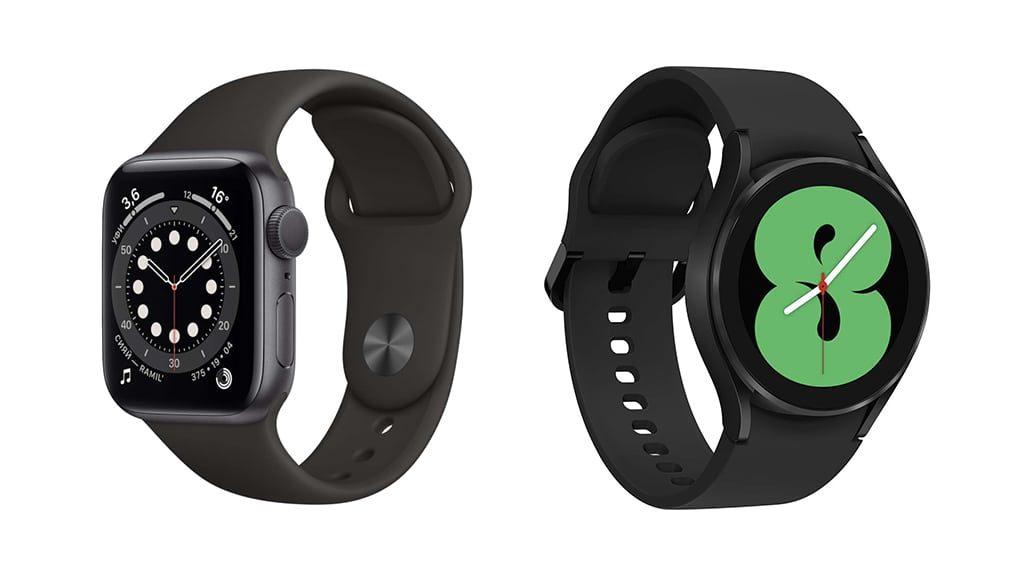 изображение Apple Watch 6 против Galaxy Watch 4 сравнение 1