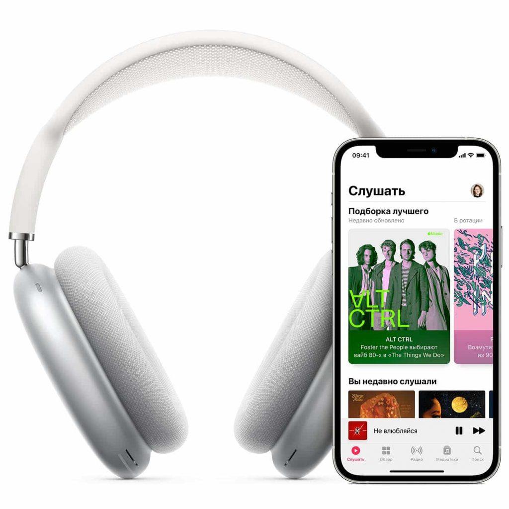 Изображение Apple AirPods Max с iPhone