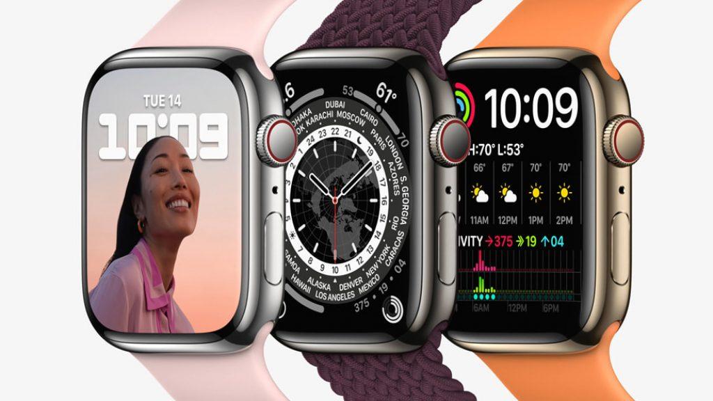 Изображение Apple Watch 7 полу боком