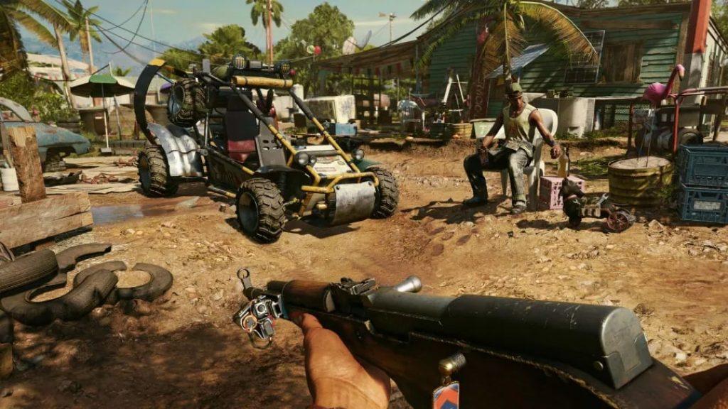 Изображение автомат и багги Far Cry 6 обзор игры
