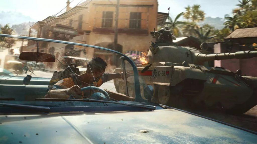 Изображение автомобиль и танк Far Cry 6 обзор игры