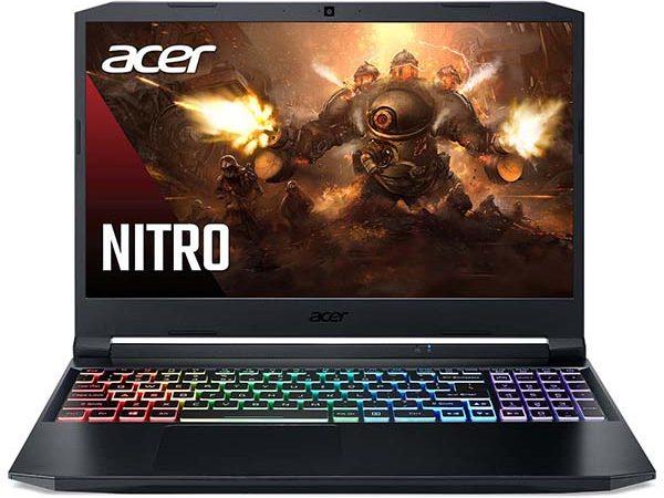 Изображение игрового ноутбука Acer Nitro 5 спереди