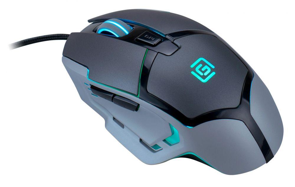Изображение мыши Oklick 915G V2 Hellwish полу боком зеленая подсветка