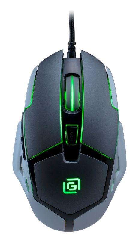 Изображение мыши Oklick 915G V2 Hellwish сверху зеленая подсветка
